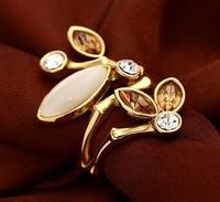 latest design 18k white gold plated ring ,gold wedding rings,bamboo rings