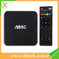 2015 wholesale m8c quad core android tv box 8gb flash satellite receiver free sexy english movie