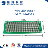 multi-language indoor P4.75 LED sign/queuing system LED display/ led message sign