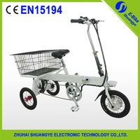 Brushless motor folding electric adult tricycles