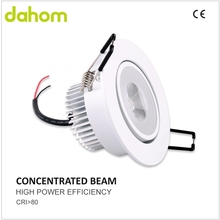Hotel application low lumen depreciation clear cover led ceiling lamp for room