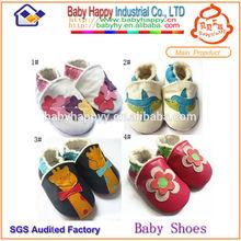 en línea de venta al por mayor de cuero de vaca bebé suave zapatos mocasines