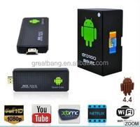 2015 best android mini tv box mk809III quad core rk3128 smart android tv stick