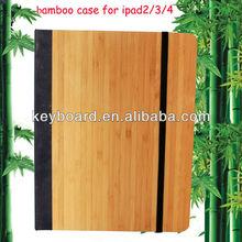 Factory wholesale handcraft original bamboo case for ipad 2/3/4 case
