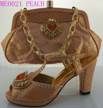 Custom Italian Shoes And Bags To Match Women ME0021 PEACH