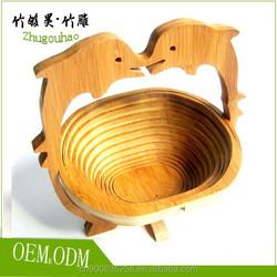 Environmental protection bamboo fruit basket made in China