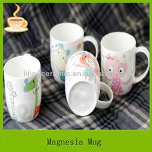 Dessin animé mignon céramique tasse de café, enfant gobelet en porcelaine de gros