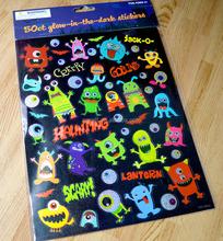 Children stickers Halloween stickers a laser gold paste
