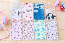 Ultra Thin Back Cover Protective Cell Phone fresh Floral Print TPU phone Case