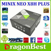 MINIX NEO X8-H Plus X8H Amlogic S812 Android 4.4 Quad core 2G/16G 4K 2.4G/5G WiFi Smart TV Free + i8 keyboard
