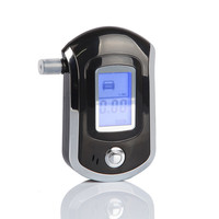 Smart MCU control LCD display breath alcohol tester AT-6000 with 5 mouthpieces