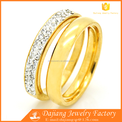 High level stainless steel wedding rings,gold plated rings