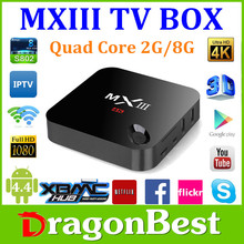 NEW Android TV box MX3 Amlogic S802 2.0GHz 2GB RAM 8GB MX3 Android 4.4 MXIII MX III MX 3 TV BOX