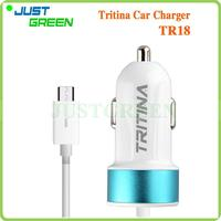 Best seller On Alibaba TR18 18-month Warranty Micro USB Cable 12 V dual car charger with high quality