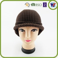 Cheap fashion Warmer knit hat, beanie hat with pom pom factory price