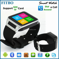 Best mtk6260 pedometer quad band touchscreen mobile phone watch