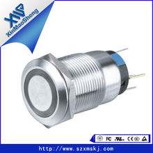 Waterproof LED push button switch