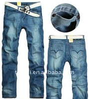 2011 fashion style jeans embroidery pocket design