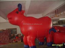Custom Red inflatable Advertising bull Air Balloon