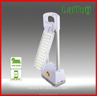 2015 new mfga led folding 3w rechargeable battery study power Touch switch reading solar panel reading lamps