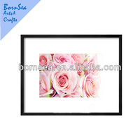 pink rose digital picture photo printing photo frame wall decoration