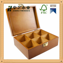 Custom logo&printing color solid wood tea box,9 compartments wooden boxes tea,jewelry box wood
