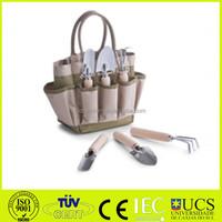4pcs Garden Tool Sets- three jaw harrow,round shovel, sharp shovel and garden bag 600D