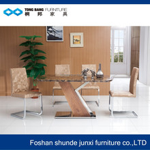 TB Z shape top sale marble table and chair dining room furniture