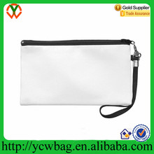Outdoor travel plain white fashionable canvas clutch bag