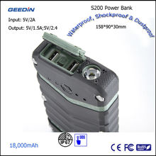 new innovative products 2015,waterproof power bank,china electronics market by Geedin S200