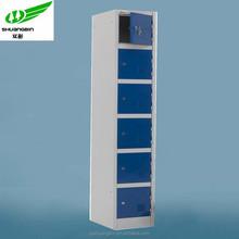 Good quality luggage locker/ 6 doors metal locker/knock down smart locker