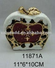 christmas ceramic apple decoration