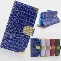 luxury diamond crocodile wallet flip leather cover case for samsung galaxy s4 i9500