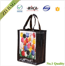 Polypropylene opp laminated pp woven tote bag shopping bag
