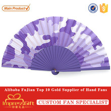 Custom Printed Plain Folding Wooden Hand Fans For Promotion