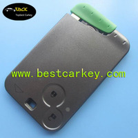 Best price blank card laguna 2 button remote key for renault laguna key card with 433 mhz