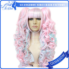 Newest design high quality fairy tail wig cosplay,full lace wig russian,braids full lace wigs