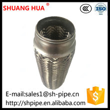Auto stainless steel flexible engine exhaust bellows pipe connector