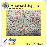 Cotton Fabirc with flowers print fabric