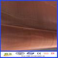 Super fino 99.9% cobre rojo puro alambre de malla / malla de alambre de cobre pantalla
