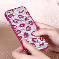 """Cool fashion tinfoil lovely lip case for iphone 6, protective mobile phone case for iphone 6 4.7"""""""