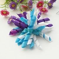 accessories for hair,hair ornaments, curly ribbon hair bow