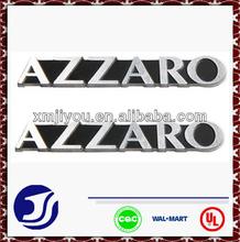 estampado de moda de aluminio placa de identificación de nombre de la etiqueta