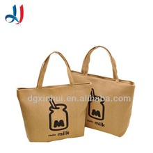 New products factory wholesale women brown canvas shopping handbags