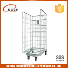 Hospital Metal Steel Roll Cage Trolley, Luggage Cart
