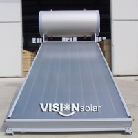 Compact galvanized steel frame panel homemade solar water heater