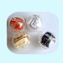 100mm wholesale christmas transparent plastic ball decoration supplies with factory price