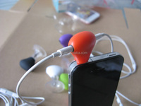 Stand N splitter, 3.5mm Headphone music splitter with suction cup for Smartphones