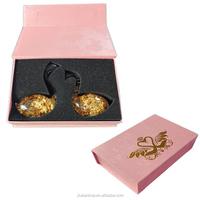 gold foil ornament craft, wedding couple swans, wedding souvenir, luxury gold foil art gift