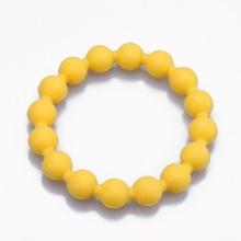fashion food grade soft silicone bead bracelet